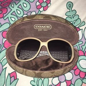 Cream coach sunglasses used